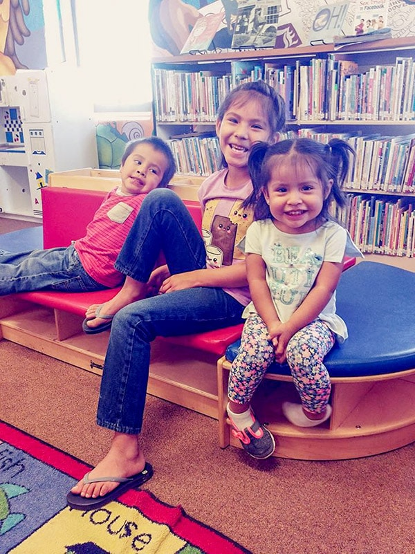 Kids in library